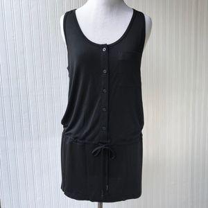 Lole Black Drawcord Waist Tunic / Dress Small